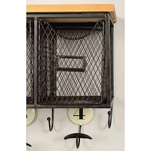 Linon 4 Basket Wall Organizer 235 L X 725 W X 124 H Brown Black 0 1