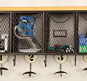 Linon 4 Basket Wall Organizer 235 L X 725 W X 124 H Brown Black 0 2 300x279