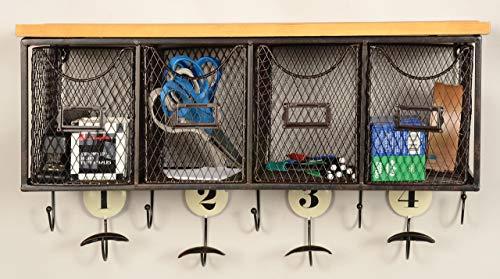 Linon 4 Basket Wall Organizer 235 L X 725 W X 124 H Brown Black 0 2