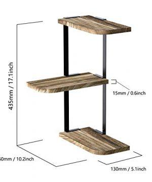 Love KANKEI Corner Shelf Wall Mount Of 3 Tier Rustic Wood Floating Shelves For Bedroom Living Room Bathroom Kitchen Office And More Carbonized Black Renewed 0 5 300x360