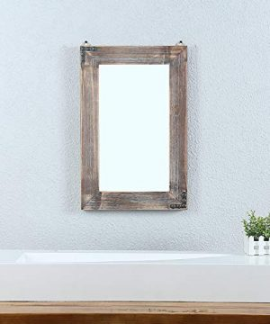 MBQQ Rustic Flat Wood Frame Hanging Wall Mirror Decorative Bathroom Mirrors For Wall Vanity Mirror Makeup Mirror16 X 24 0 0 300x360