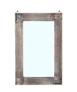 MBQQ Rustic Flat Wood Frame Hanging Wall Mirror Decorative Bathroom Mirrors For Wall Vanity Mirror Makeup Mirror16 X 24 0 300x360