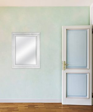MCS 18 By 24 Inch Scoop Mirror 235 By 295 Inch Outside Dimension White Wash Finish 20547 235 X 295 Inch 0 1 300x360