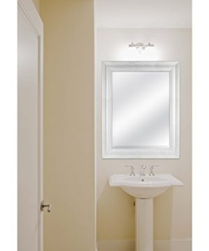 MCS 18 By 24 Inch Scoop Mirror 235 By 295 Inch Outside Dimension White Wash Finish 20547 235 X 295 Inch 0 2 300x360