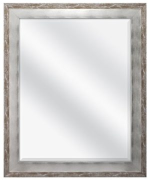 MCS 22x28 Inch Wall Mirror 28x34 Inch Overall Size Brushed Silver 0 300x360