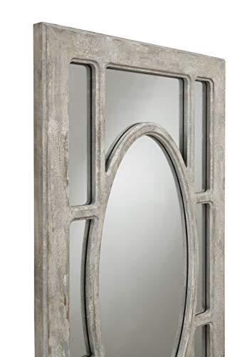 Martin Svensson Home Rectangular Window Pane Wall Mirror Antique Grey 0 0