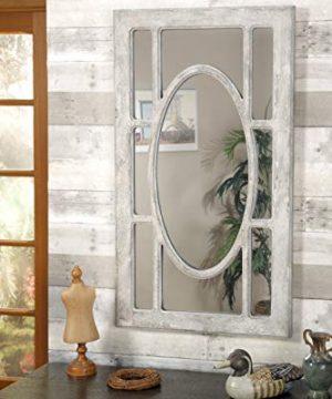Martin Svensson Home Rectangular Window Pane Wall Mirror Antique Grey 0 1 300x360