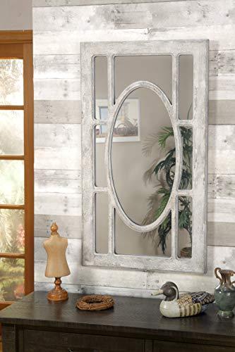 Martin Svensson Home Rectangular Window Pane Wall Mirror Antique Grey 0 1
