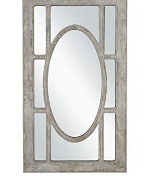 Martin Svensson Home Rectangular Window Pane Wall Mirror Antique Grey 0 300x360