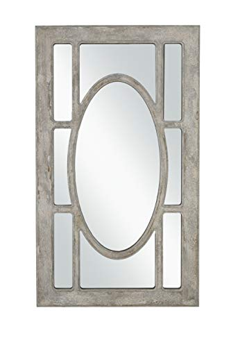 Martin Svensson Home Rectangular Window Pane Wall Mirror Antique Grey 0