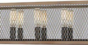 Minka Lavery Farmhouse Wall Light Fixtures 4685 107 Marsden Commons Bath Vanity Lighting 5 Light 300 Watts Smoked Iron 0 300x154