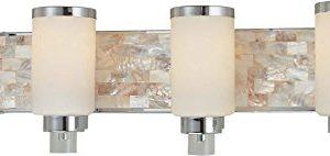 Minka Lavery Wall Light Fixtures 3244 77 Cashelmara Reversible Glass Bath Vanity Lighting 4 Light 400 Watts Chrome 0 300x142