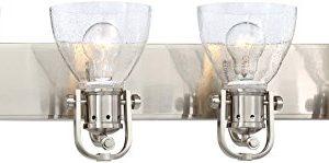 Minka Lavery Wall Light Fixtures 3414 84 Wall Bath Vanity Lighting 4 Light 400 Watts Brushed Nickel 0 300x149