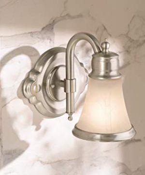 Moen YB9864BN Waterhill 4 Light Dual Mount Bath Bathroom Vanity Fixture With Frosted Glass Brushed Nickel 0 0 300x360