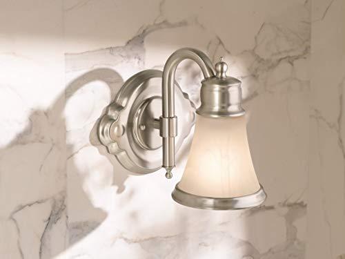 Moen YB9864BN Waterhill 4 Light Dual Mount Bath Bathroom Vanity Fixture With Frosted Glass Brushed Nickel 0 0
