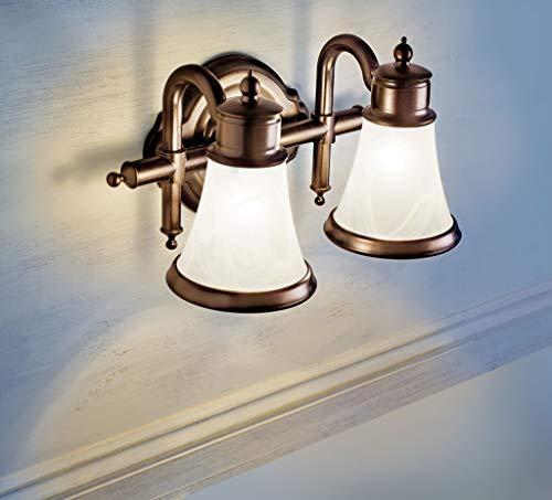 Moen YB9864BN Waterhill 4 Light Dual Mount Bath Bathroom Vanity Fixture With Frosted Glass Brushed Nickel 0 1