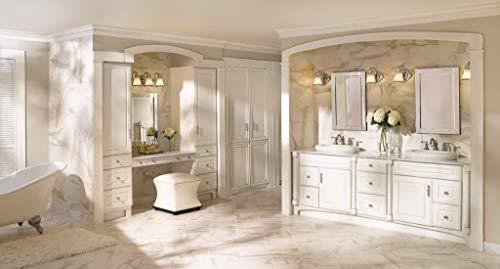 Moen YB9864BN Waterhill 4 Light Dual Mount Bath Bathroom Vanity Fixture With Frosted Glass Brushed Nickel 0 2