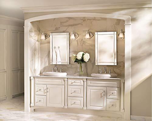Moen YB9864BN Waterhill 4 Light Dual Mount Bath Bathroom Vanity Fixture With Frosted Glass Brushed Nickel 0 3
