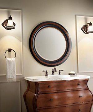 Moen YB9864BN Waterhill 4 Light Dual Mount Bath Bathroom Vanity Fixture With Frosted Glass Brushed Nickel 0 4 300x360