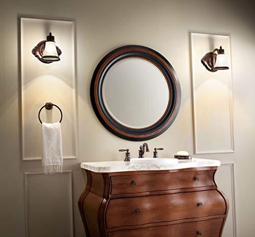 Moen YB9864BN Waterhill 4 Light Dual Mount Bath Bathroom Vanity Fixture With Frosted Glass Brushed Nickel 0 4