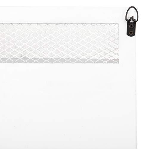 MyGift 16 Inch White Wood Wall Mounted Shelf With Key Hooks 0 5
