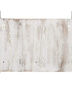 MyGift 3 Shelf Whitewashed Wall Mounted Bathroom Organizer Rack With Towel Bar 0 4 300x360