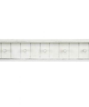 MyGift 5 Hook Vintage White Wood Floating Bathroom Shelf Towel Rack 0 4 300x360