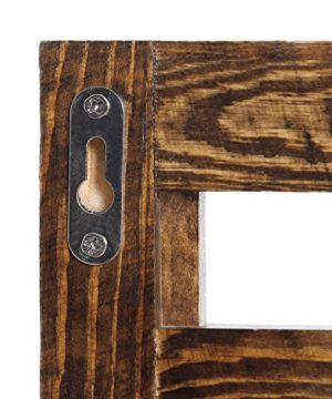 MyGift Wall Mounted Dark Brown Wood 2 Tier Floating Shelf Rack With 2 Key Hooks 0 5 300x360