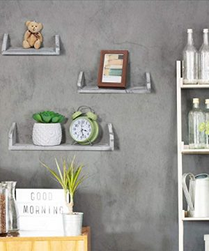 NEX Floating Wall Mounted Shelves Set Of 3 Real Wood Bathroom Shelves Kitchen Decorations Wall Shelf 0 3 300x360