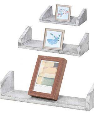 NEX Floating Wall Mounted Shelves Set Of 3 Real Wood Bathroom Shelves Kitchen Decorations Wall Shelf 0 300x360
