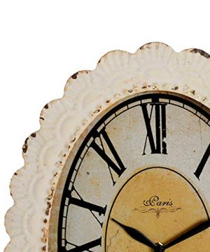 NIKKY HOME Paris Flower Wall Clock 13 38 X 2 34 X 18 18 Off Off White 0 0 300x360