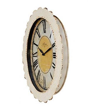 NIKKY HOME Paris Flower Wall Clock 13 38 X 2 34 X 18 18 Off Off White 0 1 300x360