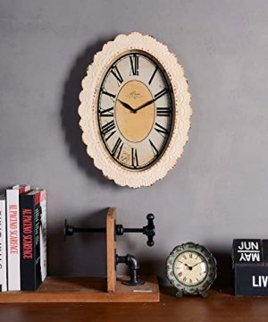 NIKKY HOME Paris Flower Wall Clock 13 38 X 2 34 X 18 18 Off Off White 0 3 300x360