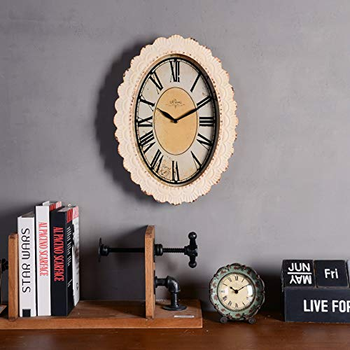 NIKKY HOME Paris Flower Wall Clock 13 38 X 2 34 X 18 18 Off Off White 0 3
