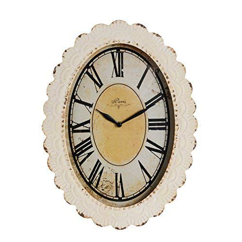 NIKKY HOME Paris Flower Wall Clock 13 38 X 2 34 X 18 18 Off Off White 0