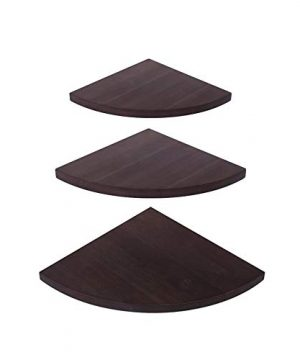 OROPY Wall Mount Solid Wood Floating Corner Shelves Set Of 3 Rustic Wall Storage Display Shelf For Bedroom Living Room Kitchen Office 114 98 78 Inches 0 300x360