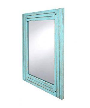 PRINZ Waters Edge Homestead Mirror Blue Distressed Wood 185x235 0 0 300x360