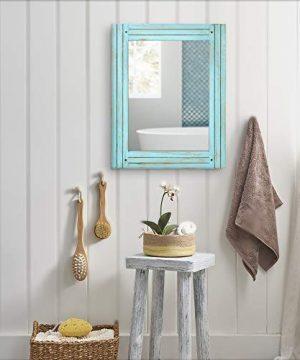 PRINZ Waters Edge Homestead Mirror Blue Distressed Wood 185x235 0 2 300x360