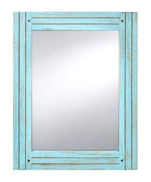 PRINZ Waters Edge Homestead Mirror Blue Distressed Wood 185x235 0 300x360