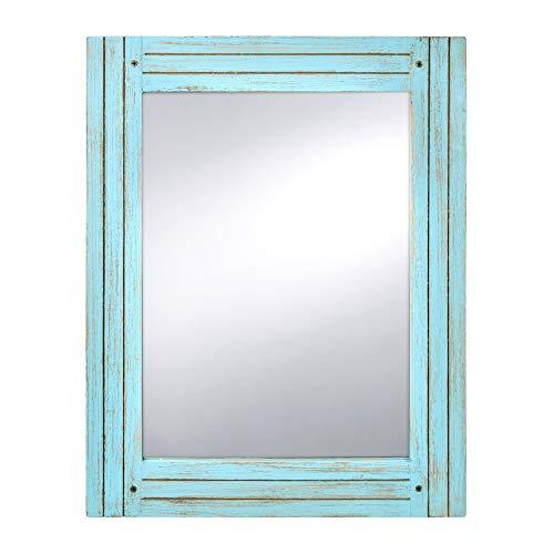 PRINZ Waters Edge Homestead Mirror Blue Distressed Wood 185x235 0