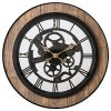 Pacific Bay Bornheim Large Decorative Light Weight 20 Inch Wall Clock Silent Non Ticking 3 D Aluminum Dial Easy To Read Roman Numerals Quartz Battery Operated Glass Face Cover 0 100x100