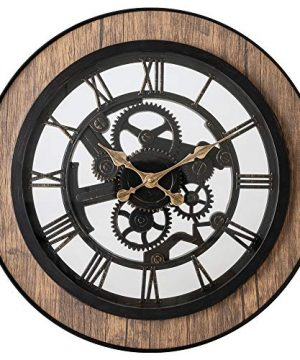 Pacific Bay Bornheim Large Decorative Light Weight 20 Inch Wall Clock Silent Non Ticking 3 D Aluminum Dial Easy To Read Roman Numerals Quartz Battery Operated Glass Face Cover 0 300x360