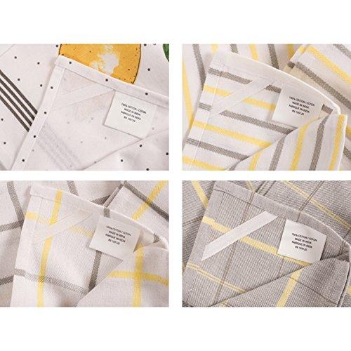 Pantry Lemon Kitchen Dish Towel Set Of 4 100 Percent Cotton 18 X 28 Inch 0 4