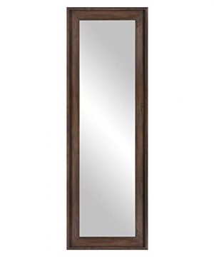 Patton Wall Decor 19x57 Burnt Tobacco Wood Framed Full Length Leaner Wall Mounted Mirrors 0 300x360