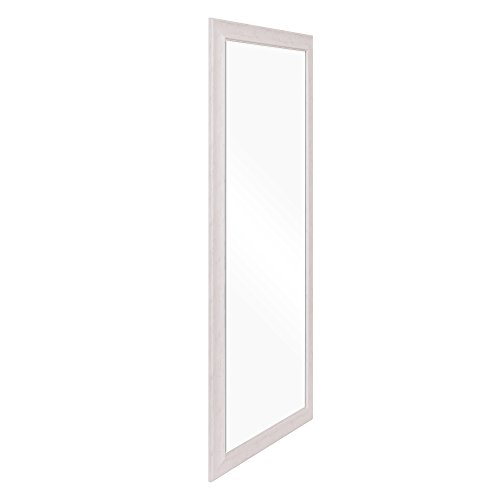 Patton Wall Decor 24 X 58 Beveled Leaner Classic White Washed Wood Frame Floor Mirror 0 0