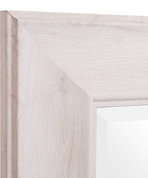 Patton Wall Decor 24 X 58 Beveled Leaner Classic White Washed Wood Frame Floor Mirror 0 1 300x360