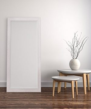 Patton Wall Decor 24 X 58 Beveled Leaner Classic White Washed Wood Frame Floor Mirror 0 3 300x360