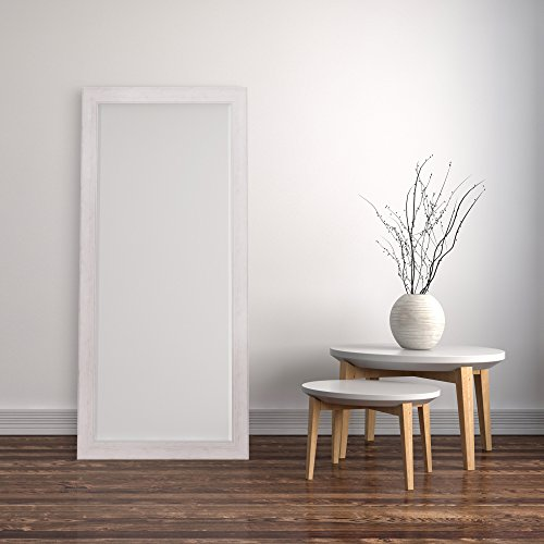 Patton Wall Decor 24 X 58 Beveled Leaner Classic White Washed Wood Frame Floor Mirror 0 3