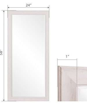 Patton Wall Decor 24 X 58 Beveled Leaner Classic White Washed Wood Frame Floor Mirror 0 4 300x360