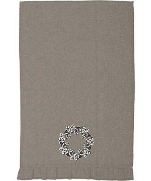 Piper Classics Farmhouse Cotton Wreath Towel 19x28 Taupe Grey Farmhouse Kitchen Decor 0 0 300x360